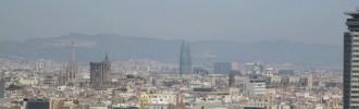 Barcelona panorama Spania